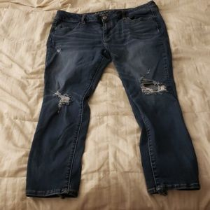 Womens American eagle skinny jeans size 18 short